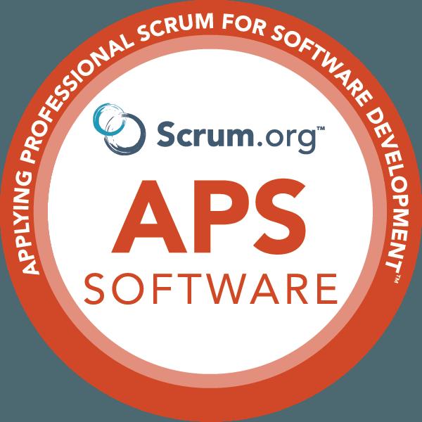 Applying Professional Scrum for Software Development™ logo
