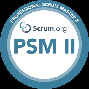 Professional Scrum Master II logo